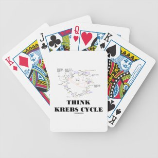 Think Krebs Cycle (Citric Acid Cycle - TCAC) Bicycle Poker Cards