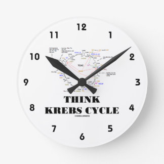 Think Krebs Cycle (Citric Acid Cycle - TCAC) Round Clock