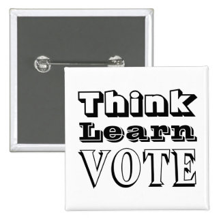 Think, Learn, Vote Pins