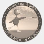 Think Like A Bird Classic Round Sticker