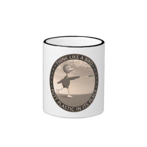 Think Like A Bird Ringer Coffee Mug