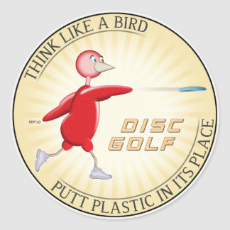 Think Like A Bird Classic Round Sticker