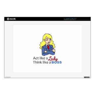 THINK LIKE A BOSS SKINS FOR LAPTOPS