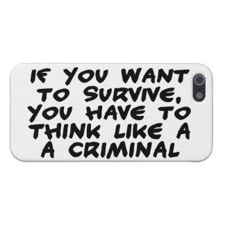 Think Like A Criminal Case For iPhone SE/5/5s