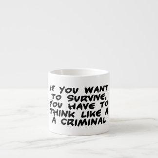 Think Like A Criminal Espresso Cup