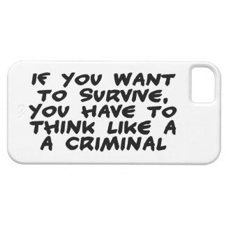 Think Like A Criminal iPhone SE/5/5s Case