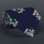 """THINK LIKE A PROTON AND STAY POSITIVE TIE<br><div class=""""desc"""">THINK LIKE A PROTON AND STAY POSITIVE TIE. Cool,  trendy and fun science inspired tie designed as a gift for all scientists,  science teachers,  science students,  in short,  any science geek in your life (and that includes you)! Designed by Science Geekness&#169; at http://www.zazzle.com/sciencegeekness*</div>"""