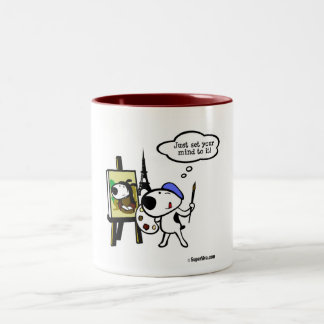 Think Like Leonardo and Do It Two-Tone Coffee Mug