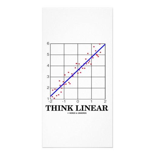 Think Linear (Linear Regression Statistics) Custom Photo Card