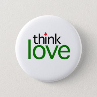 Think Love (Christmas Love Edition) Pinback Button