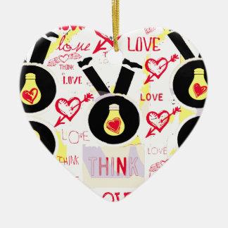 Think Love year round Ceramic Ornament