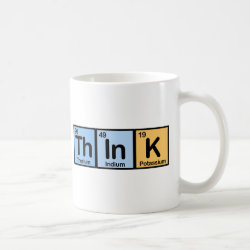 Classic White Mug with Think design