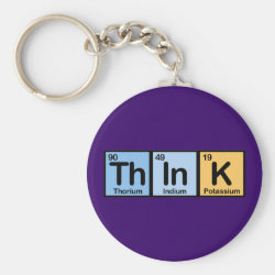 Think Basic Button Keychain