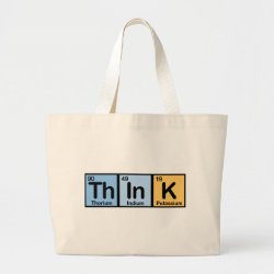Jumbo Tote Bag with Think design