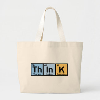 Think made of Elements Large Tote Bag