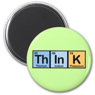 Think made of Elements Refrigerator Magnets