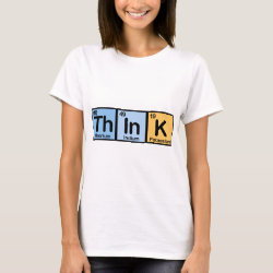 Women's Basic T-Shirt with Think design