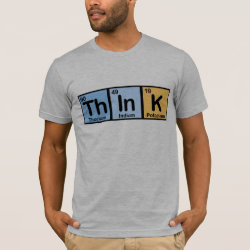 Men's Basic American Apparel T-Shirt with Think design