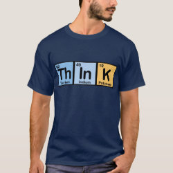 Men's Basic Dark T-Shirt with Think design