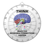 Think Make The Neuronal Connections Happen (Brain) Dartboard With Darts