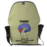 Think Make The Neuronal Connections Happen Courier Bags
