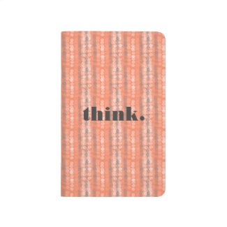 think. Notebook - Orange Creamsicle