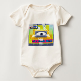 Think of a single thing! baby bodysuit