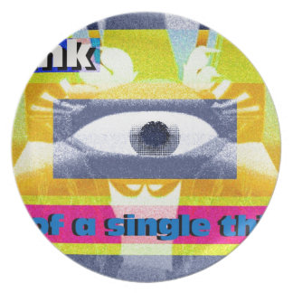 Think of a single thing! dinner plate