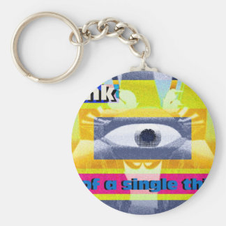 Think of a single thing! keychain
