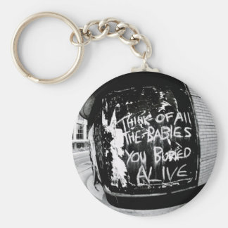 Think Of All The Babies You Buried Alive Basic Round Button Keychain