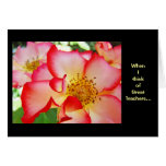 Think of Great Teachers... customize Cards Roses