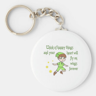 THINK OF HAPPY THINGS KEY CHAINS