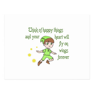 THINK OF HAPPY THINGS POSTCARD