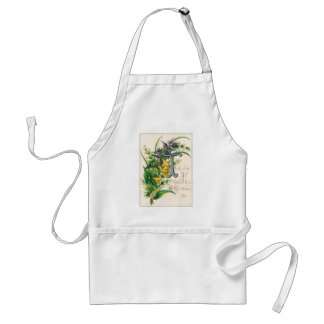 Think of Me, I'll Think of Thee- Christmas Card Apron