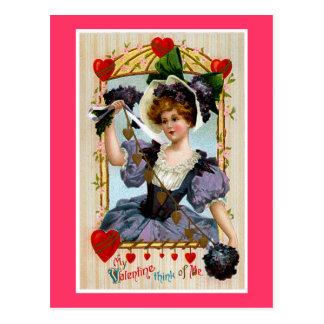Think of Me Valentine Postcard