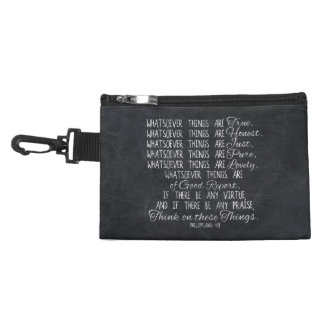 Think on These Things Christian Bible Scripture Accessories Bag