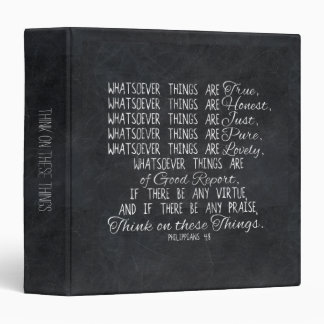 Think on These Things Christian Bible Scripture Binder