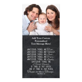 Think on These Things Christian Bible Scripture Card