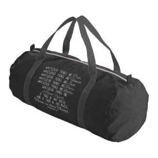 Think on These Things Christian Bible Scripture Gym Duffel Bag