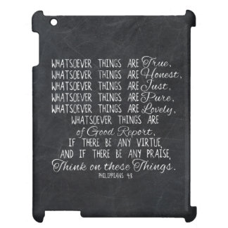 Think on These Things Christian Bible Scripture iPad Covers