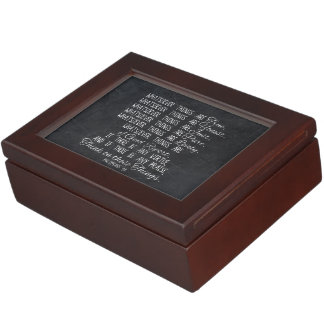 Think on These Things Christian Bible Scripture Memory Box