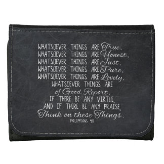Think on These Things Christian Bible Scripture Wallets