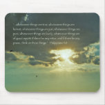 Think on These Things Scripture Mousepad