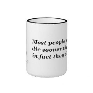 Think or Die Ringer Mug