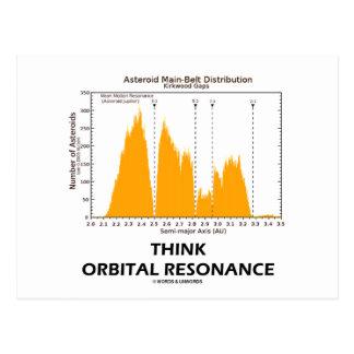 Think Orbital Resonance Astronomy Postcards