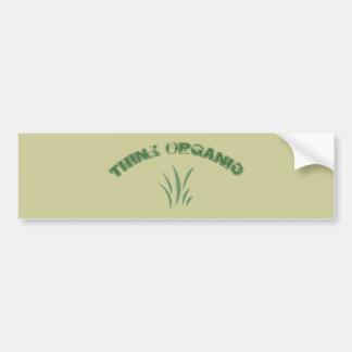Think Organic Bumper Sticker