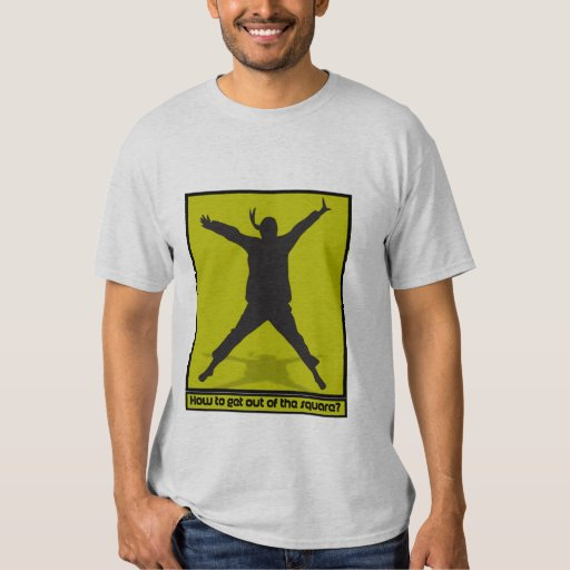 Think out of square tee shirt