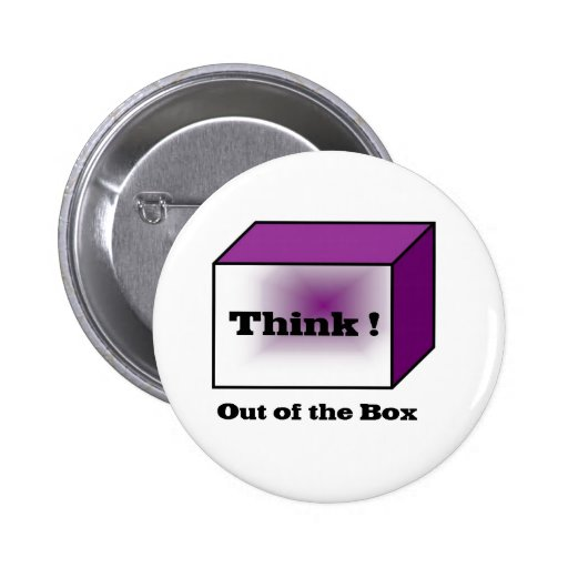 Think out of the Box 2 Inch Round Button