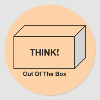 Think out of the Box Classic Round Sticker