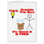 Think Out of the Box Greeting Card